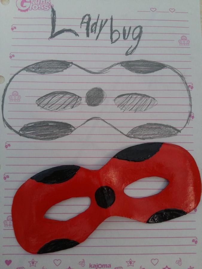 Como fazer uma máscara lady bug e um super gato de Foamiran