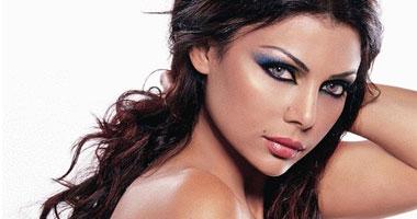 المطربة اللبنانية هيفاء وهبي<br>