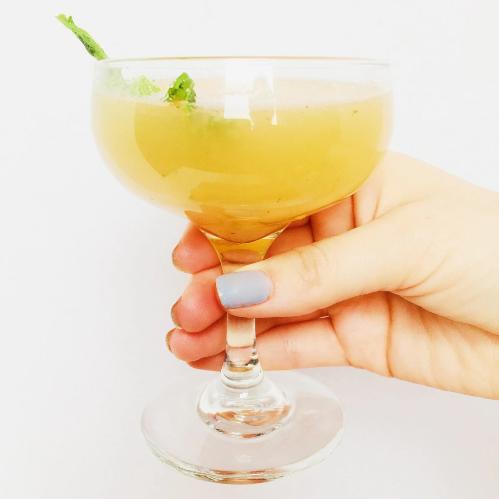 Rum Peach Mint Ginger Up Mountain Switchel Cocktail Recipe
