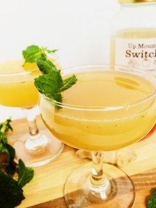 summer peach ginger rum cocktail recipe
