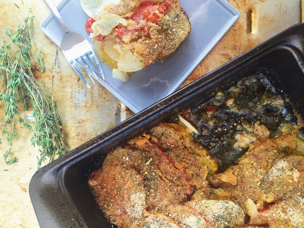 instructions for how to make tomato gratin recipe
