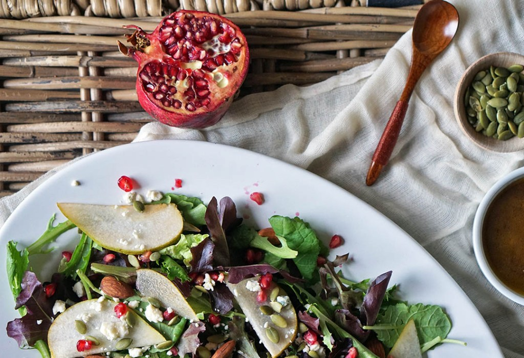 fall pear salad recipe healthy