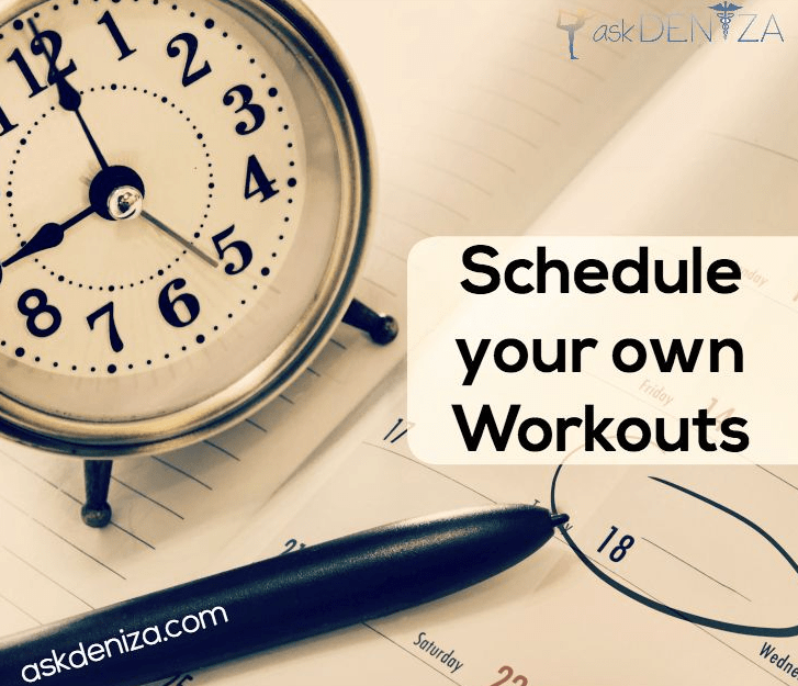 Ask Deniza DIY Workout Schedule