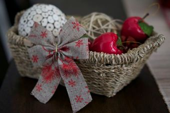 Basket Christmas Decor