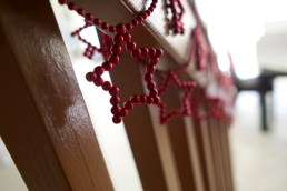 Christmas Beads on staircase