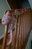 Holiday Stair Case Decor