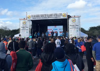 Dan Marino Foundation Walkabout Autism Expo 2016 Dan Marino on stage
