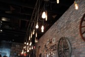 Industrial and Rustic Decor inside Finka Table & Tap