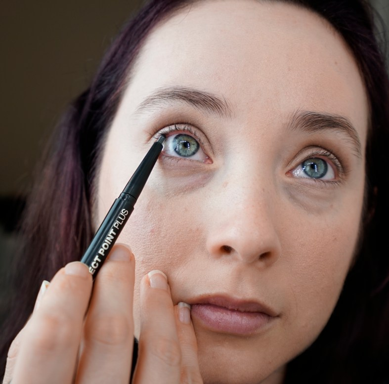 tight lining with perfect point plus eyeliner covergirl younfolded blog