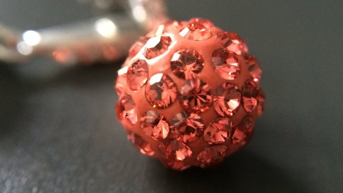 Little Gems Coral_Crystal_Pave_Earrings