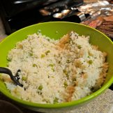 white rice and peas yonfolded blog