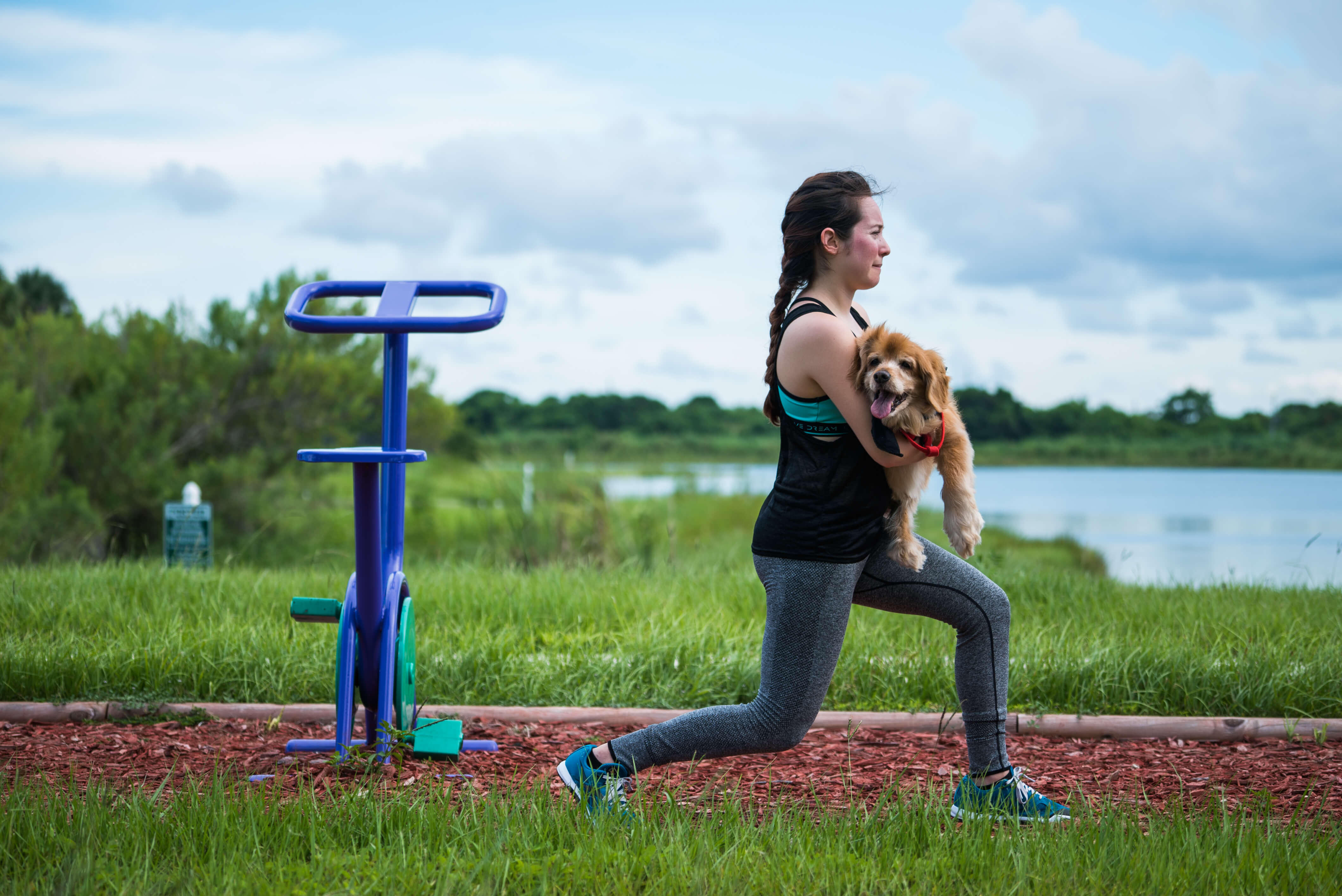lunges with dog workout pets younfolded blog