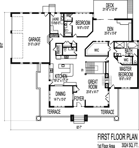 4 bedroom house plans single floor for Single level 4 bedroom house plans