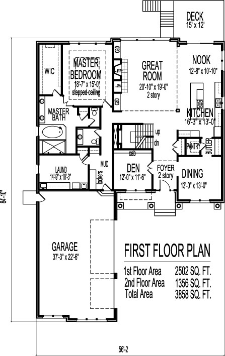 Bungalow House Floor Plans Design Beautiful 2 Story Four Bedroom