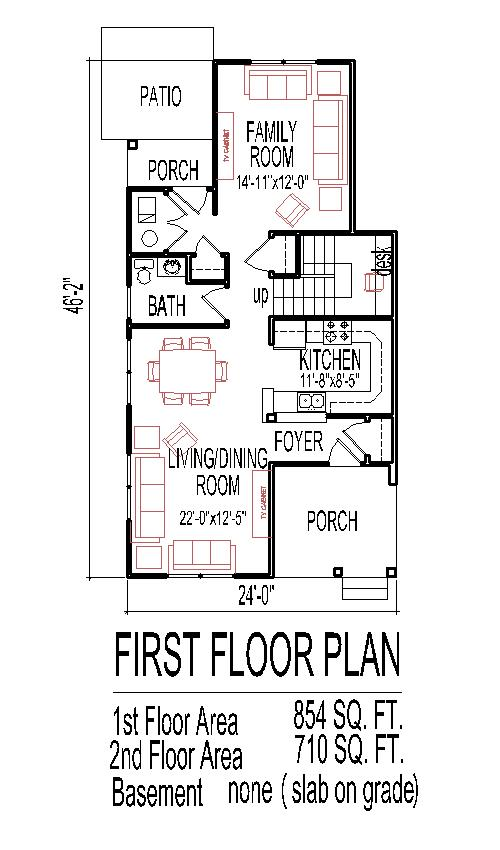 Low Budget House Floor Plans for Small Narrow Lots 3 Bedroom 2 Story