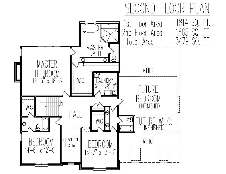 2 Story French Country Brick House Floor Plans 3 Bedroom
