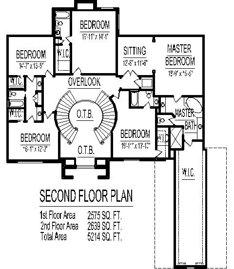 4500 Square Foot House Floor Plans 5 Bedroom 2 Story Double Stairs   Dual Staircase House Plans   Colonial   Design   Upstairs Master Suite House   Luxury Library 5 Bed House   Medium Size