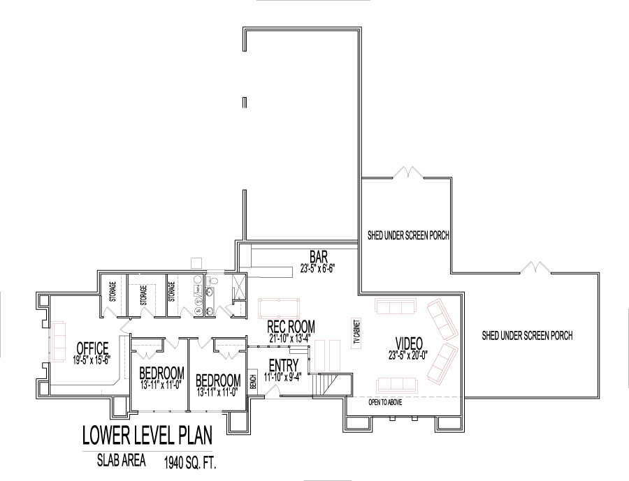 Cool House Floor Plans Modern Split Level 4000 Square Feet