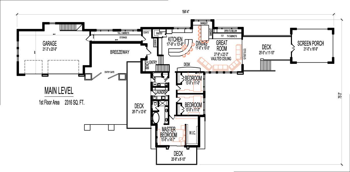Prairie Architecture House Floor Plans 3 Bedroom 2000 Sq