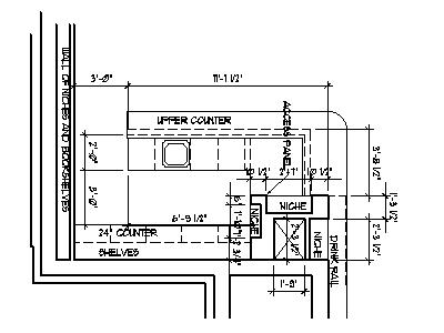 Home Bar Plans Design Blueprints Drawings Back Bar Counter Section
