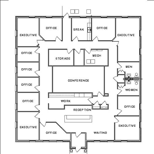 Office Design Plans House Space Planning Ideas Blueprint Drawings