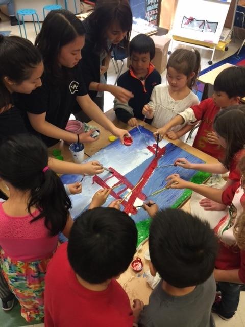 Golden Gate Bridge SF School Art Project