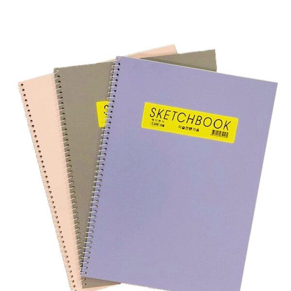 3 sketchbooks stacked together