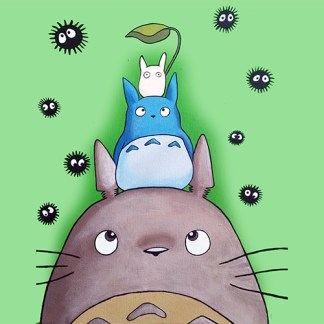 totoro and friends composition
