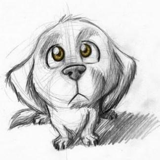 sketch of dog composition