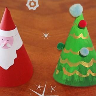 Santa clause christmas tree craft and christmas tree craft