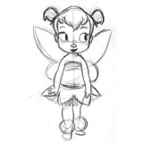 tinkerbell sketch composition