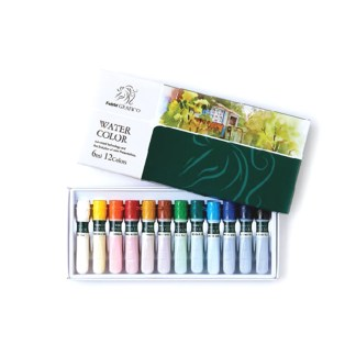 Set of 12 assorted water color paint in box