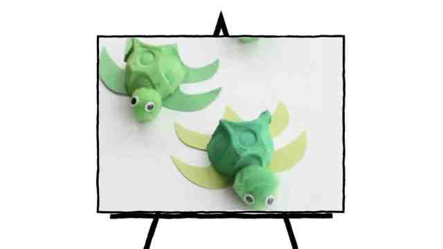 green clay baby turtles