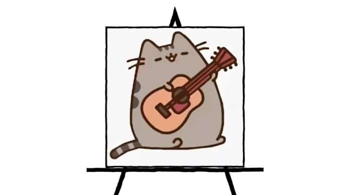 colorful pusheen character image