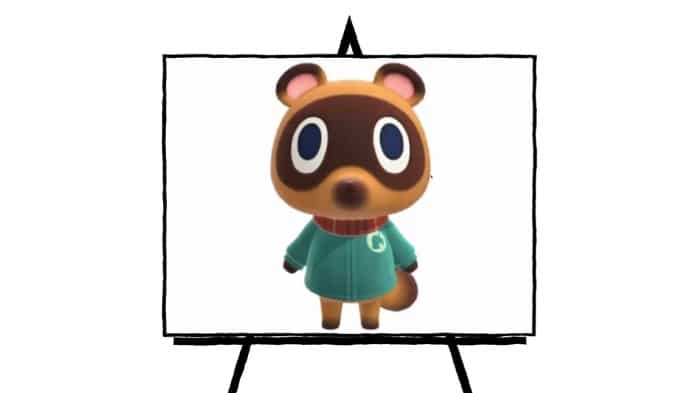 colorful character painting of Tommy from Animal Crossing