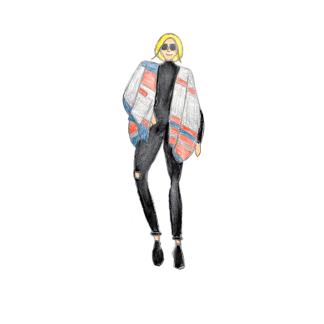 Geeky Chic fashion drawing