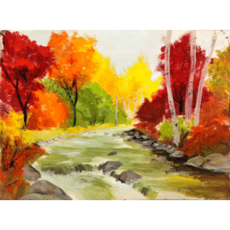 Fall Scenery Painting