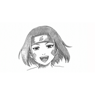 Sketch of Rin from Naruto