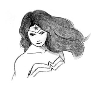 portrait of a girl super hero