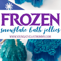 Frozen Inspired Snowflake Bath Jellies