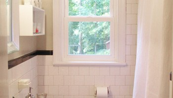 Raising Our Bathrooms Shower Curtain For A Loftier Look