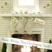 Baby Announcement Christmas Card Idea