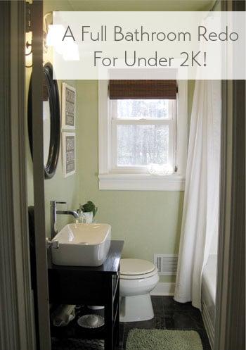 A Full Bathroom Reno For Under 2000
