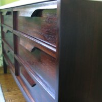 Nursery Progress: How To Refinish A Veneer Dresser