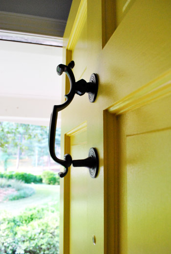 How To Paint Your Front Door & Updating Old Brass Hardware \u0026 Handles With Spray Paint | Young House ...