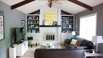 Painting A Brick Fireplace Is An Easy Way To Makeover Your Entire