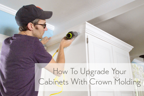 How To Add Crown Molding To The Top Of Your Cabinets Young House Love