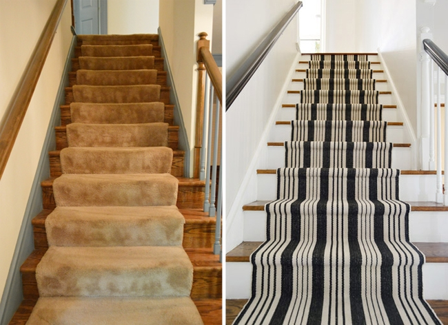 How To Install A Stair Runner Yourself Young House Love | Stapling Carpet To Stairs | Electric Stapler | Flooring | Stair Tread | Landing | Stair Runner