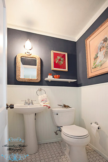 Epic Reader Redesign Bathroom Red White u Blues