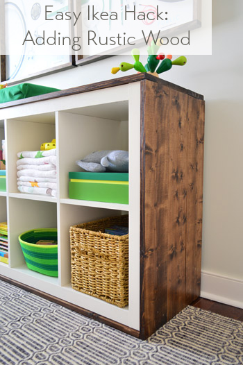 Ikea Hacks Expedit an easy ikea hack bookcase to wood wrapped changing table